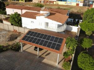 energia solar usada para fins residenciais