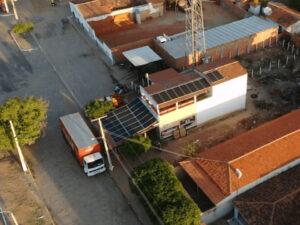 residencia com sistema de energia solar